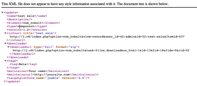 code generated